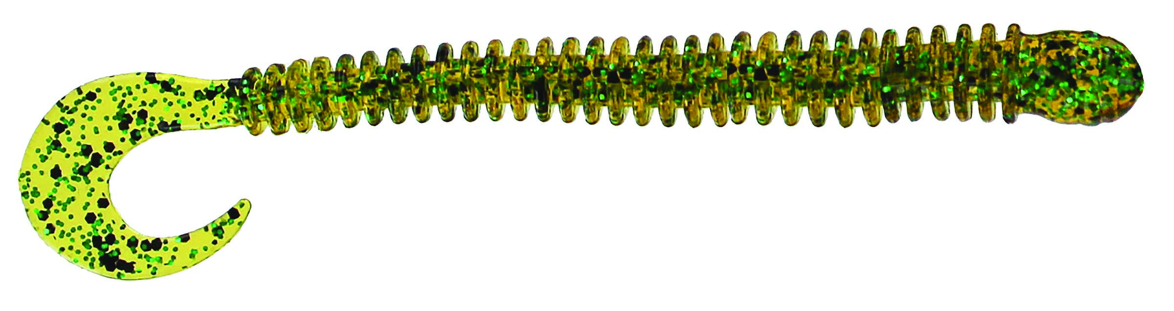 Big Bite Baits - Disc Ring Worm - 4 inch - RW-405 - PUMPKIN PEPPER GREEN