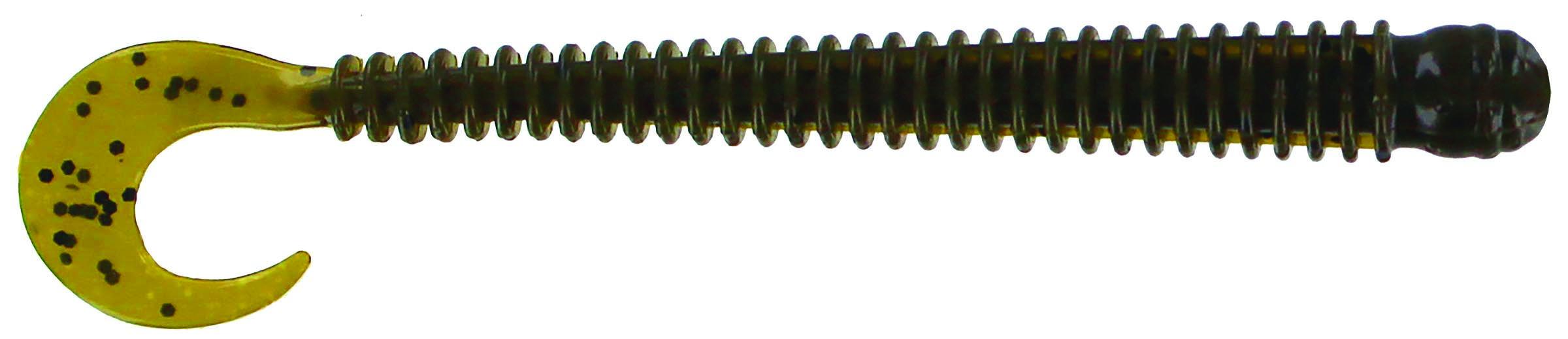 Big Bite Baits - Disc Ring Worm - 4 inch - RW-407 - GREEN PUMPKIN