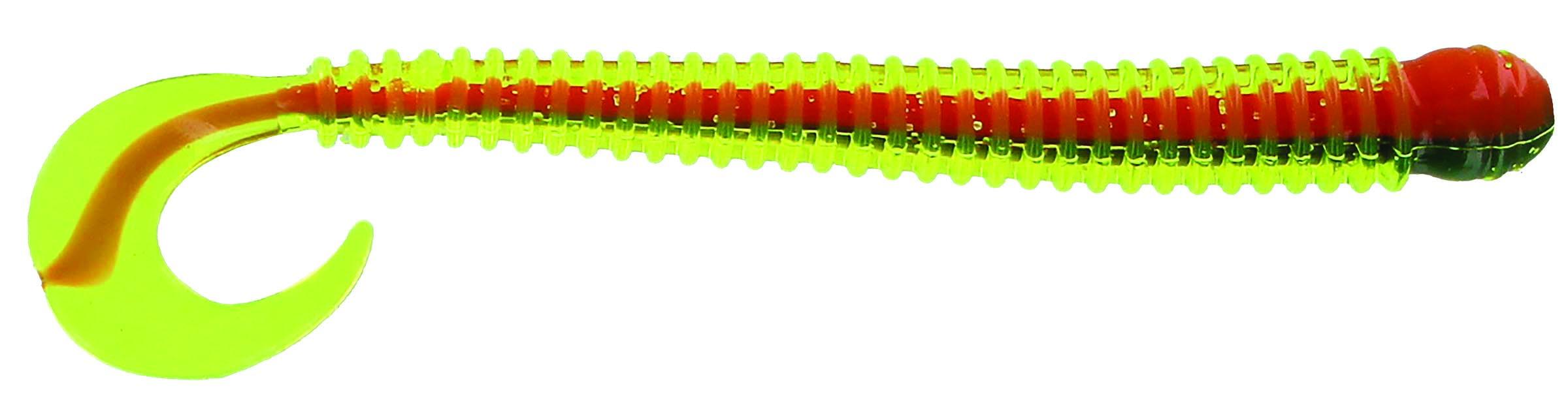 Big Bite Baits - Disc Ring Worm - 4 inch - RW-409 - FIRE TIGER