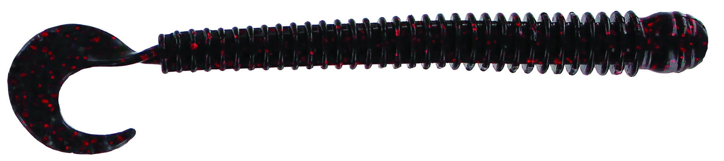 Big Bite Baits - Disc Ring Worm - 4 inch - RW-410 - BLACK NEON