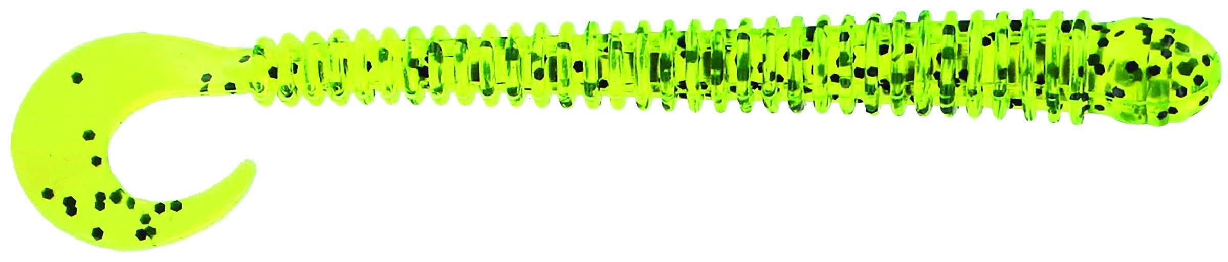 Big Bite Baits - Disc Ring Worm - 4 inch - RW-417 - CHART PEPPER