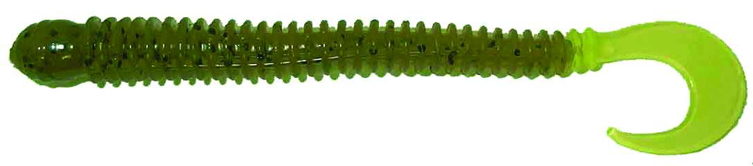 Big Bite Baits - Disc Ring Worm - 4 inch - RW-422 - WATERMELON SEED CHART TAIL