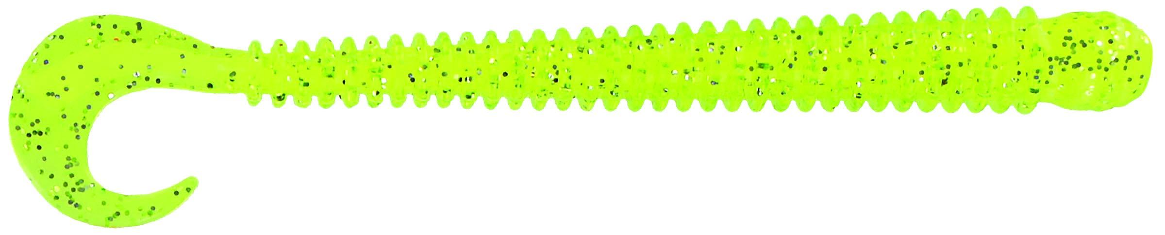 Big Bite Baits - Disc Ring Worm - 4 inch - RW-429 - CHART WHITE CORE
