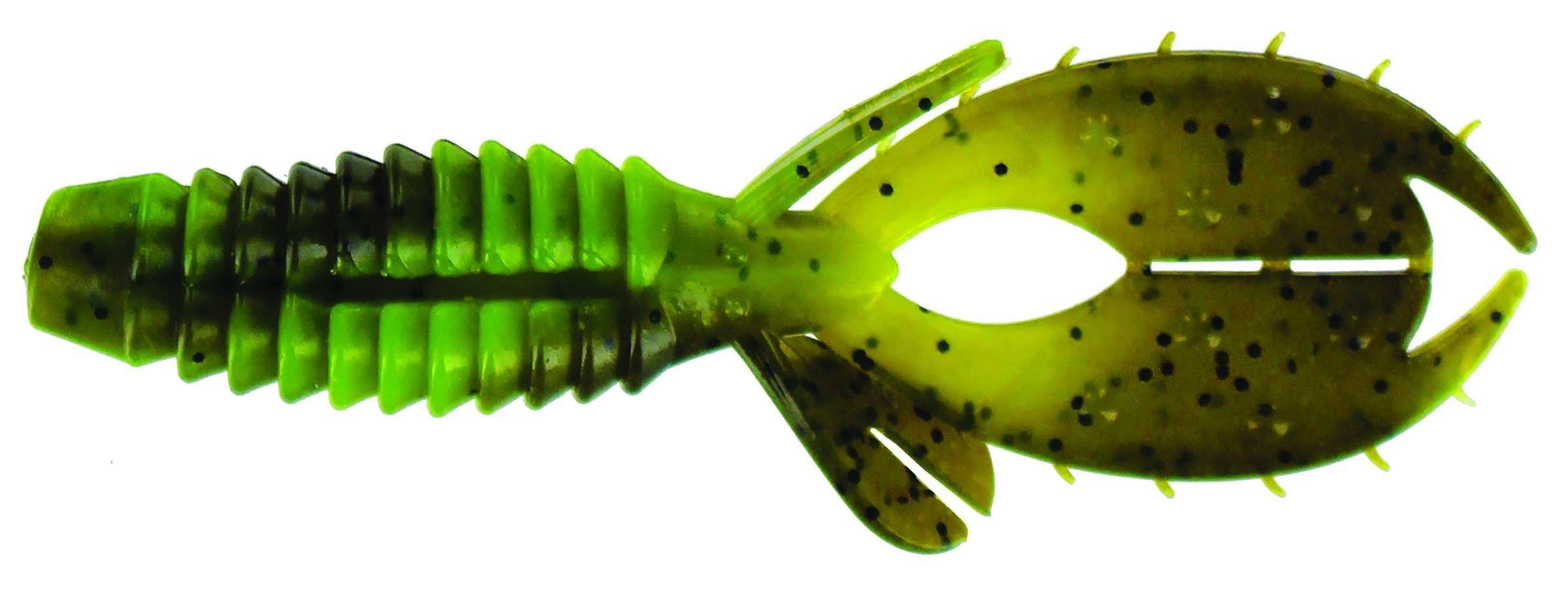 Big Bite Baits - YoMama - 4 inch - YO405 - GREEN PUMPKIN CHART SWIRL
