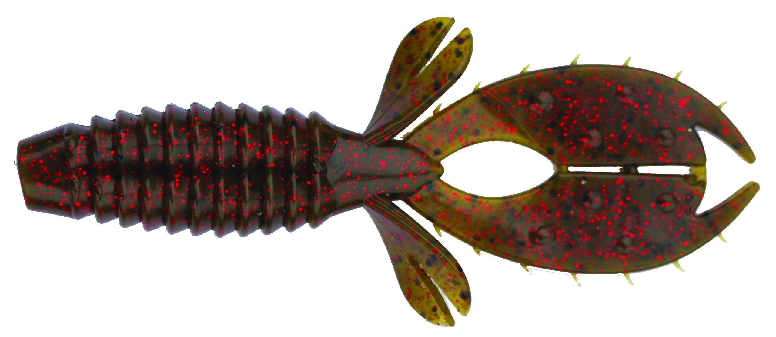 Big Bite Baits - YoMama - 4 inch - YO419 - GREEN PUMPKIN RED FLAKE
