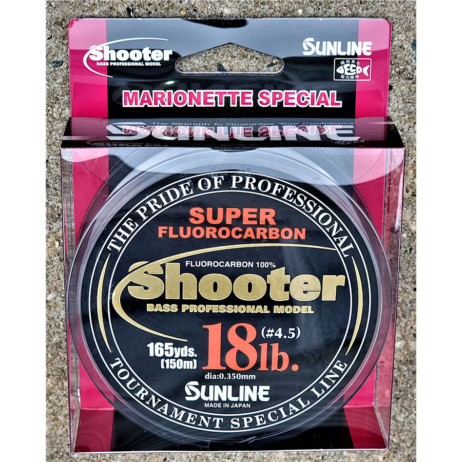 Sunline - Shooter Fluorocarbon - Marionette - 150 Meters - Shooter Fluorocarbon - Marionette - 18 LB - NATURAL CLEAR
