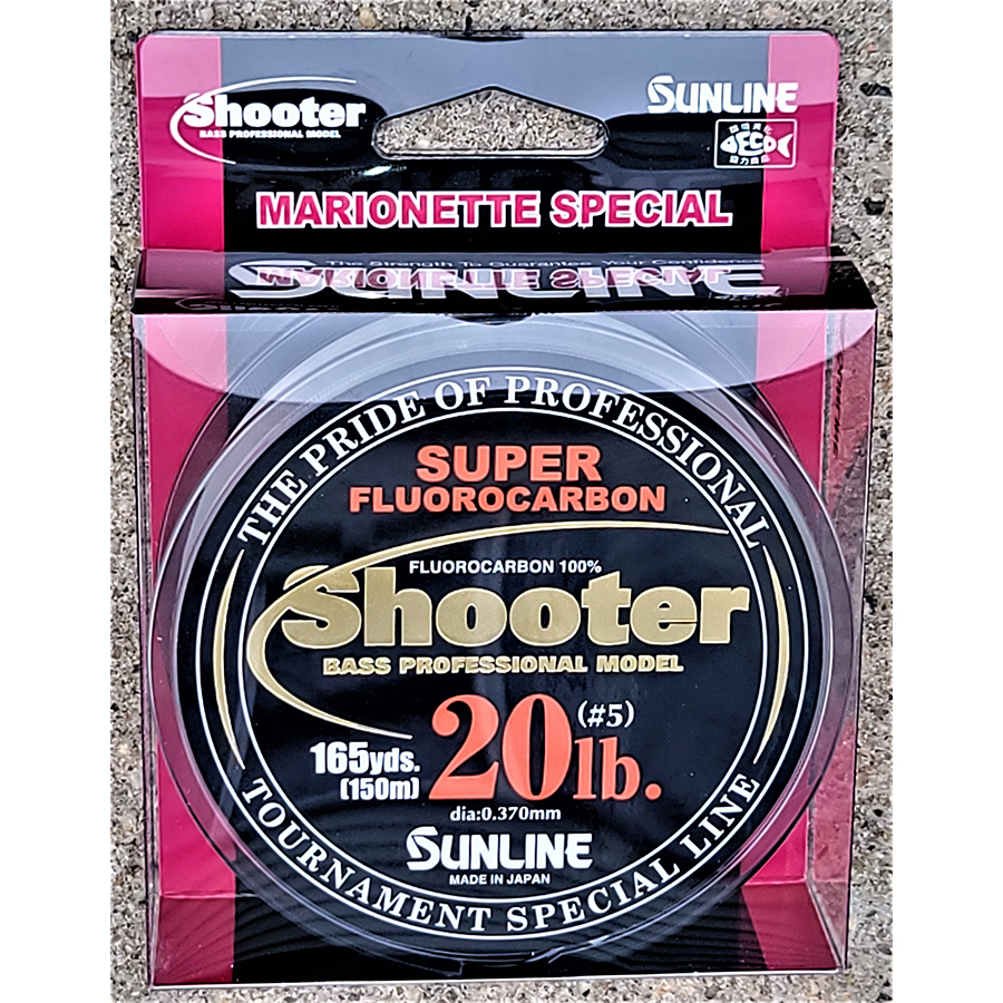 Sunline - Shooter Fluorocarbon - Marionette - 150 Meters - Shooter Fluorocarbon - Marionette - 20 LB - NATURAL CLEAR