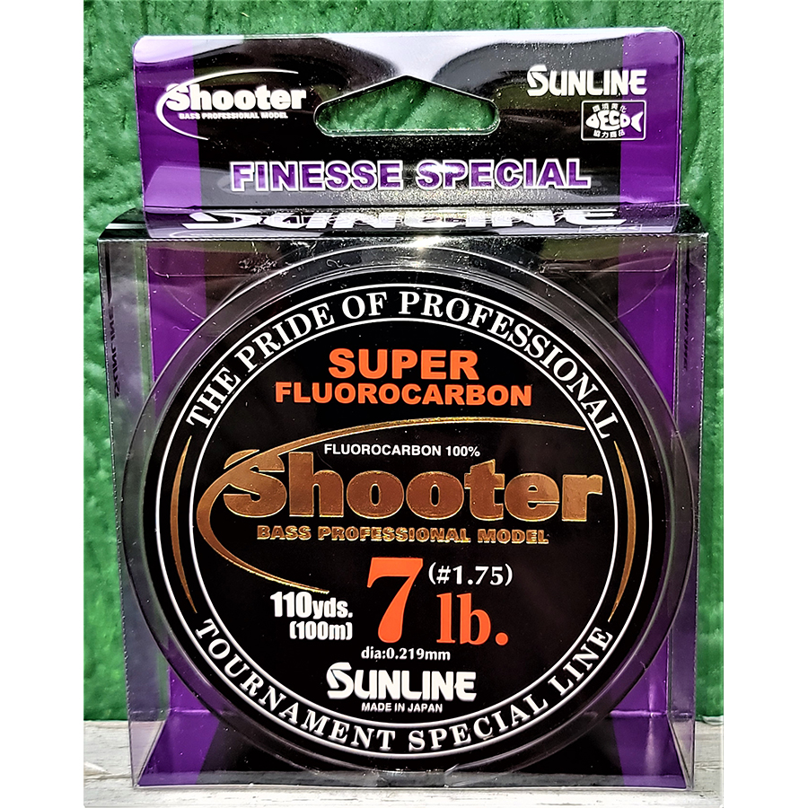 Sunline - Shooter Fluorocarbon - Finesse - 100 Meters - Shooter Fluorocarbon - Finesse - 7 LB - NATURAL CLEAR