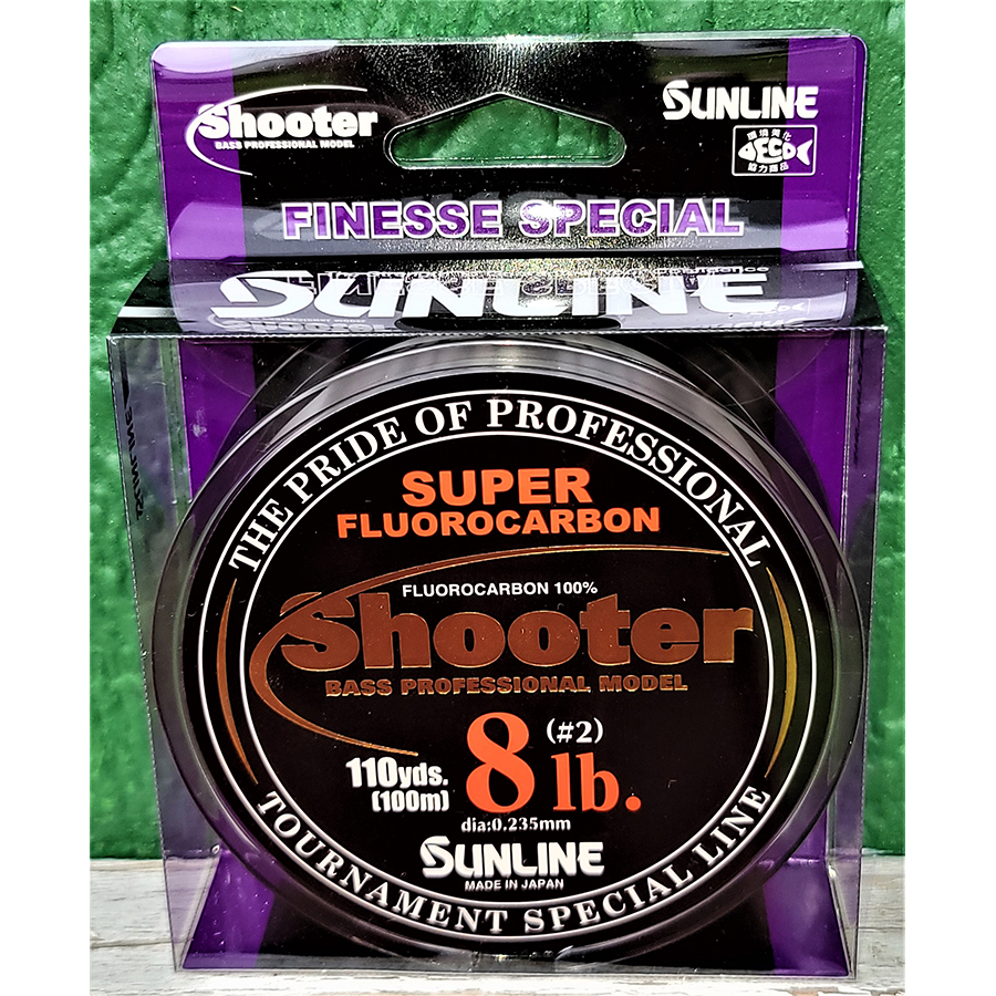 Sunline - Shooter Fluorocarbon - Finesse - 100 Meters - Shooter Fluorocarbon - Finesse - 8 LB - NATURAL CLEAR