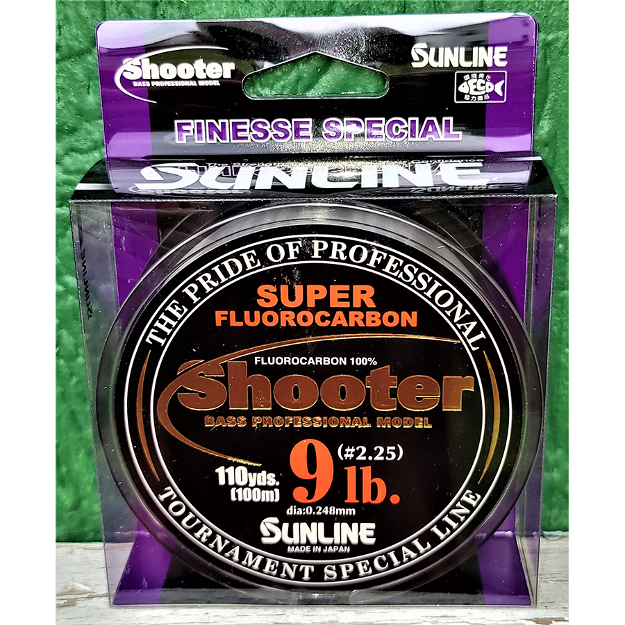 Sunline - Shooter Fluorocarbon - Finesse - 100 Meters - Shooter Fluorocarbon - Finesse - 9 LB - NATURAL CLEAR