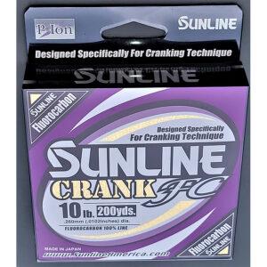 Sunline - Crank FC Fluorocarbon - 200 Yard Filler Spool - Crank FC Fluorocarbon - 10 LB - CLEAR