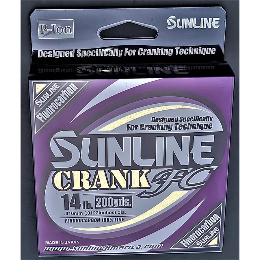 Sunline - Crank FC Fluorocarbon - 200 Yard Filler Spool - Crank FC Fluorocarbon - 14 LB - CLEAR