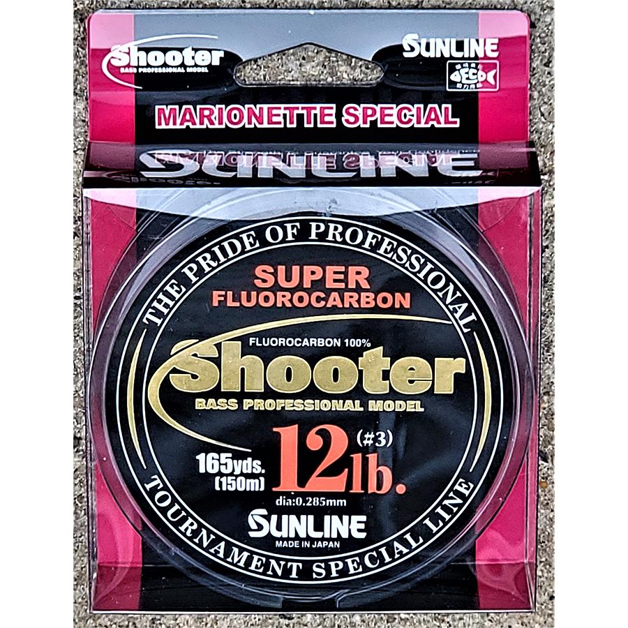 Sunline - Shooter Fluorocarbon - Marionette - 150 Meters - Shooter Fluorocarbon - Marionette - 12 LB - NATURAL CLEAR