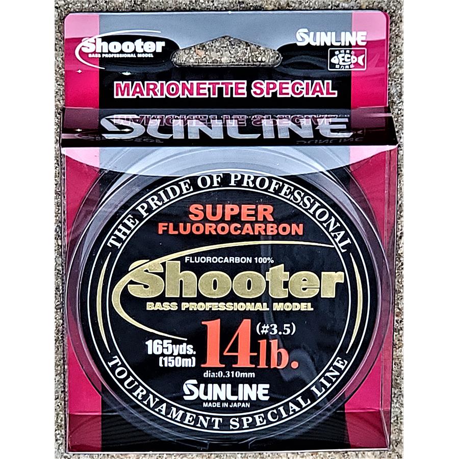 Sunline - Shooter Fluorocarbon - Marionette - 150 Meters - Shooter Fluorocarbon - Marionette - 14 LB - NATURAL CLEAR