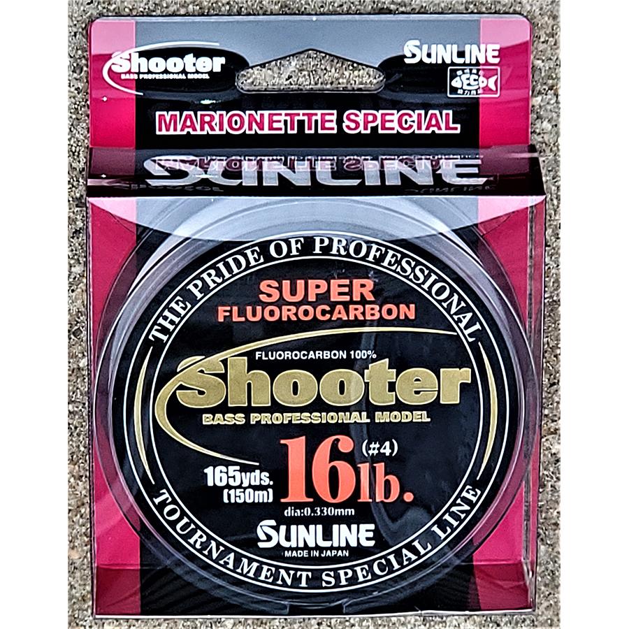 Sunline - Shooter Fluorocarbon - Marionette - 150 Meters - Shooter Fluorocarbon - Marionette - 16 LB - NATURAL CLEAR