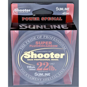 Sunline - Shooter Fluorocarbon - Power - 100 Meters - Shooter Fluorocarbon - Power - 22 LB - NATURAL CLEAR